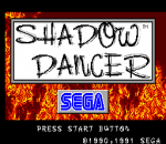 Shadow Dancer title screenshot