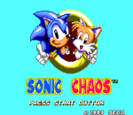 Sonic Chaos title screenshot