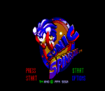 Sonic Spinball title screenshot