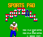 Sports Pad Football title screenshot