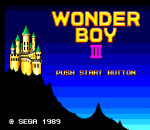 Wonder Boy III - The Dragon's Trap title screenshot