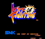 Art of Fighting title screenshot
