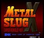 Metal Slug X : Super Vehicle-001 title screenshot