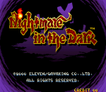Nightmare in the Dark title screenshot