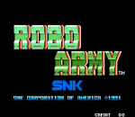 Robo Army title screenshot