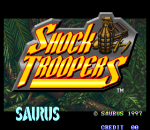 Shock Troopers title screenshot