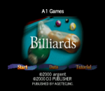 Billiards title screenshot
