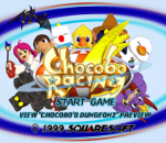 Chocobo Racing title screenshot