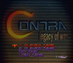 Contra - Legacy of War title screenshot
