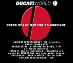 Ducati World - Racing Challenge title screenshot