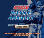 Gundam Battle Assault title screenshot