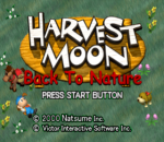 Harvest Moon - Back to Nature title screenshot