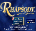 Rhapsody - A Musical Adventure title screenshot