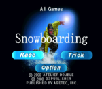 Snowboarding title screenshot