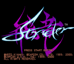 Strider title screenshot